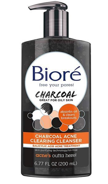 Bioré Charcoal Acne Clearing Cleanser for Oily Skin