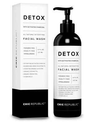 Detox All Natural Activated Charcoal Facial Cleanser