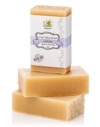 Southern Natural Lavender Goat Milk Best Soap for Dry skin Bar
