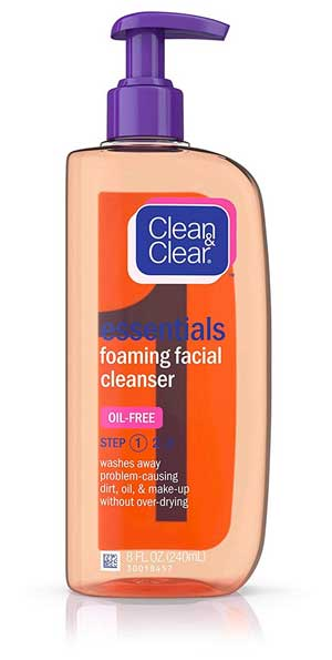 Clean & Clear Essentials Foaming Facial Cleanser for oily skin