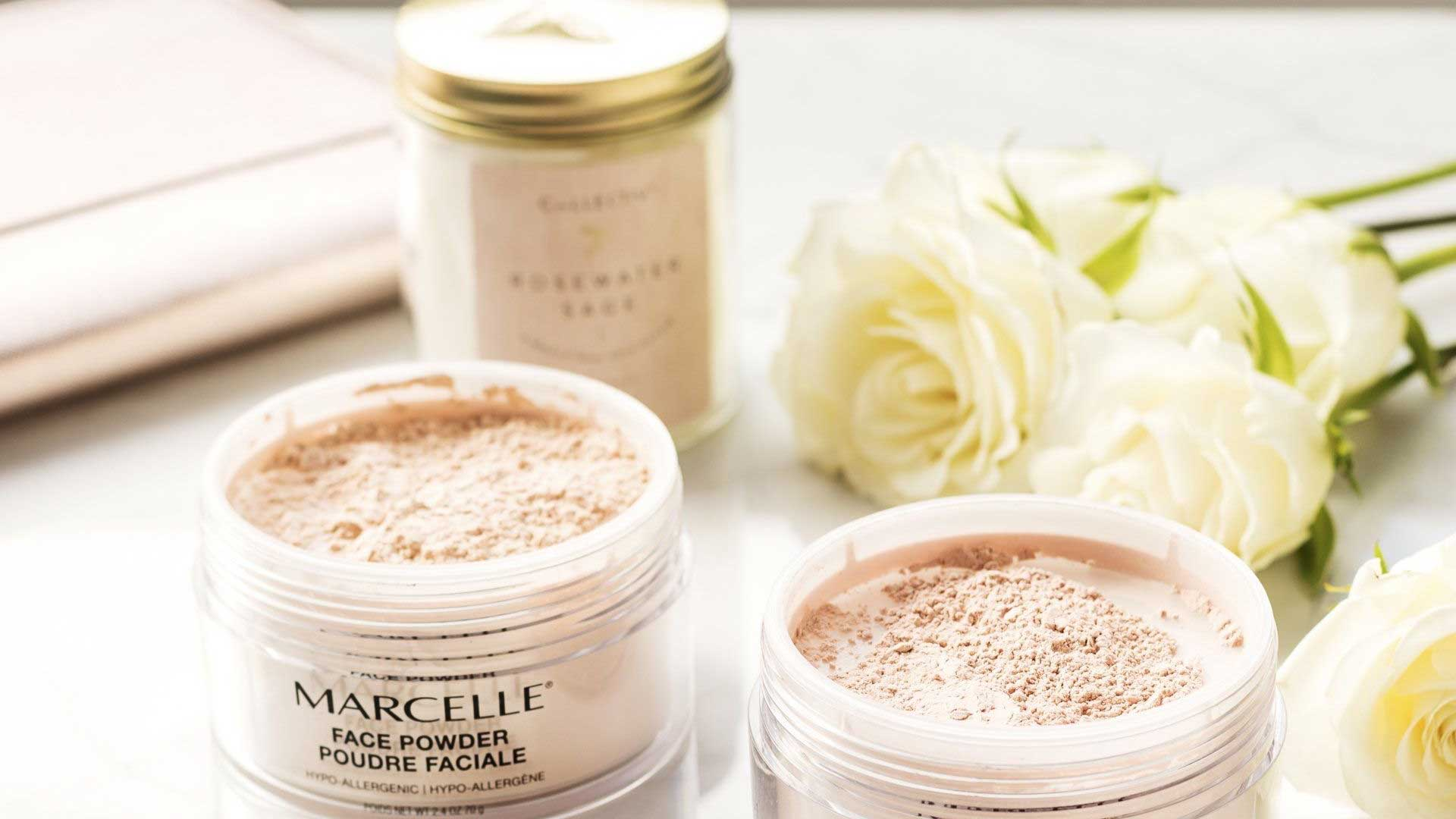 Marcelle powder foundation for dry skin