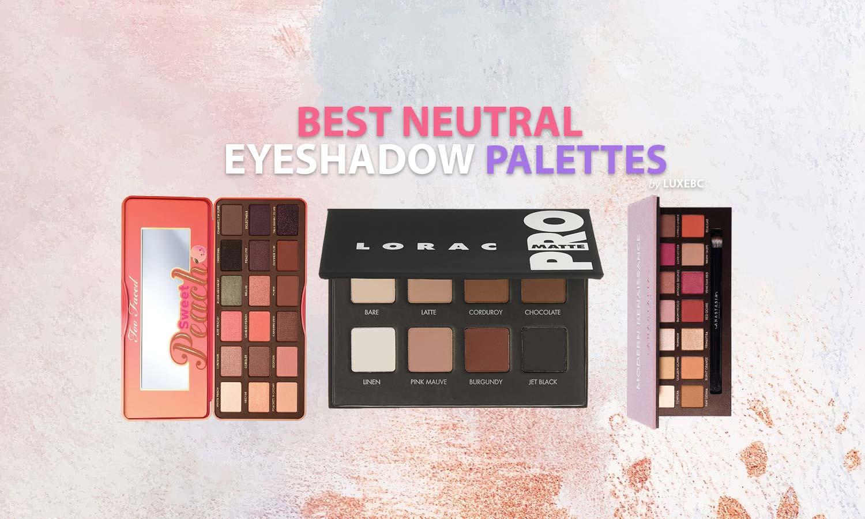best neutral eyeshadow palettes